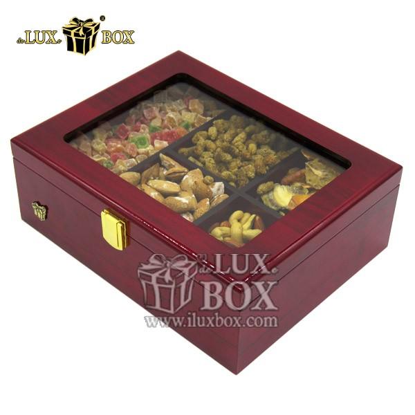 جعبه پذیرایی لوکس ،جعبه چوبی آجیل و خشکبار ،باکس آجیل و خشکبار،جعبه چوبی دست ساز،،باکس کادویی آجیل  ،جعبه پذیرایی آجیل و خشکبار لوکس باکس ، جعبه آجیل خشکبار پذیرایی چوبی لوکس باکس کد LB 110_ LM