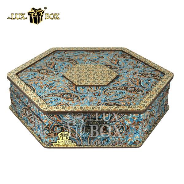جعبه چوبی آجیل ،باکس لوکس چوبی آجیل ،جعبه پذیرایی آجیل و خشکبار ،جعبه آجیل کادویی،بسته بندی چوبی آجیل،جعبه پذیرایی آجیل و خشکبار لوکس باکس ، جعبه آجیل خشکبار پذیرایی ترمه چوبی لوکس باکس کد LB 012