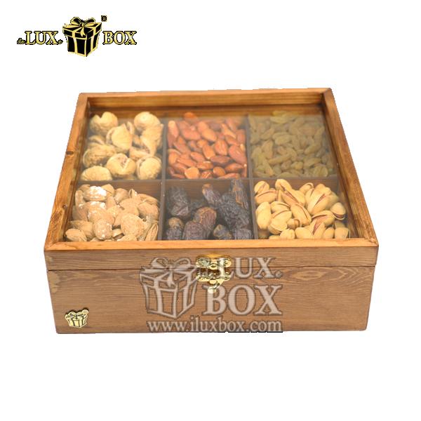 جعبه آجیل دست ساز ،باکس لوکس آجیل ،جعبه پذیرایی آجیل و خشکبار ،جعبه چوبی دست ساز آجیل،آجیل کادویی،بسته بندی آجیل،جعبه پذیرایی آجیل و خشکبار لوکس باکس ، جعبه آجیل خشکبار پذیرایی چوبی لوکس باکس کد LB 13