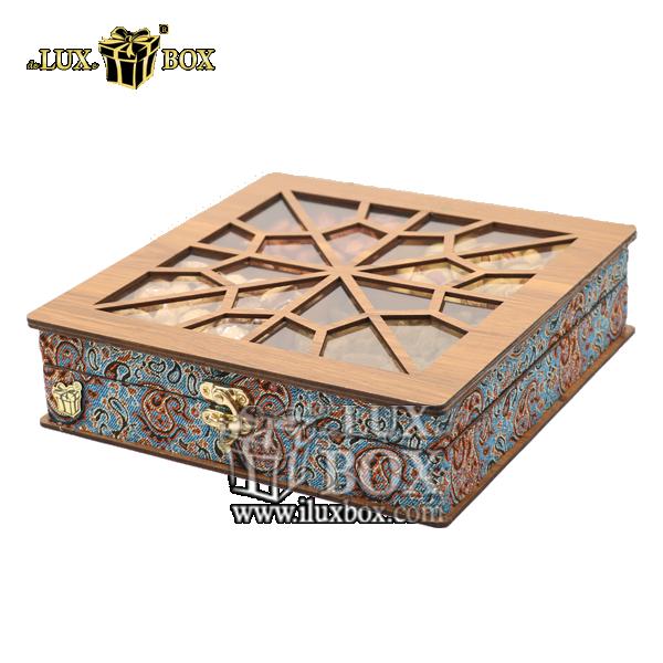 جعبه چوبی پذیرایی آجیل و خشکبار لوکس باکس کد LB032 , جعبه پذیرایی،جعبه آجیل پذیرایی،لوکس باکس،جعبه ، جعبه آجیل، جعبه آجیل و خشکبار،آجیل، خشکبار،بسته بندی آجیل،جعبه ارزان،جعبه ارزان آجیل، آجیل کادویی،