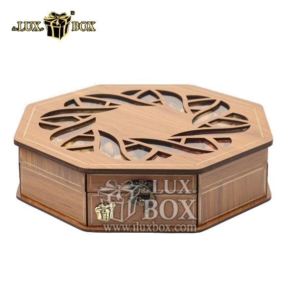جعبه آجیل و خشکبار ،باکس چوبی ،جعبه پذیرایی لوکس آجیل ،جعبه هشت ضلعی خشکبار،بسته بندی ارزان آجیل،بسته بندی لوکس آجیل،باکس چوبی آجیل،جعبه پذیرایی آجیل و خشکبار لوکس باکس ، جعبه چوبی پذیرایی آجیل و خشکب
