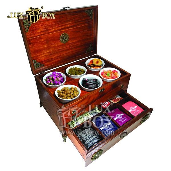 جعبه ، جعبه چوبی ، جعبه دمنوش ،جعبه پذیرایی دمنوش، جعبه چوبی پذیرایی ،جعبه پذیرایی ، جعبه ارزان دمنوش، جعبه ارزان، جعبه چوبی ارزان، جعبه دمنوش دو طبقه
