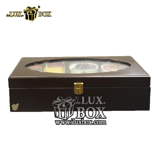 جعبه نفیس دمنوش پذیرایی چای کیسه ای تی بگ چوبی لوکس باکس  کد LB104-B , جعبه ، جعبه چوبی ، جعبه دمنوش ،جعبه پذیرایی دمنوش، جعبه چوبی پذیرایی ،جعبه پذیرایی ، جعبه ، جعبه لوکس ، جعبه خاص ،جعبه کادویی دمنوش