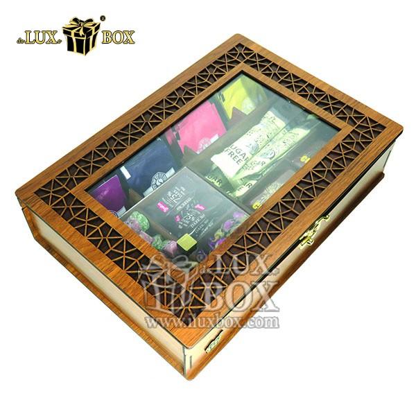 جعبه دمنوش پذیرایی چای کیسه ای تی بگ چوبی لوکس باکس کد LB 19 , جعبه ، جعبه چوبی ، جعبه دمنوش ،جعبه پذیرایی دمنوش، جعبه چوبی پذیرایی ،جعبه پذیرایی ، جعبه ارزان دمنوش،جعبه پذیرایی و دمنوش ، جعبه کادویی دمنوش