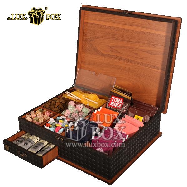 ،جعبه پذیرایی و دمنوش چوبی ،باکس دمنوش ،جعبه پذیرایی و دمنوش ،جعبه پذیرایی دمنوش ، باکس لوکس دمنوش ، بسته بندی چوبی دمنوش ، جعبه پذیرایی و دمنوش لوکس باکس کد LB 16، جعبه دمنوش پذیرایی چای کیسه ای تی ب