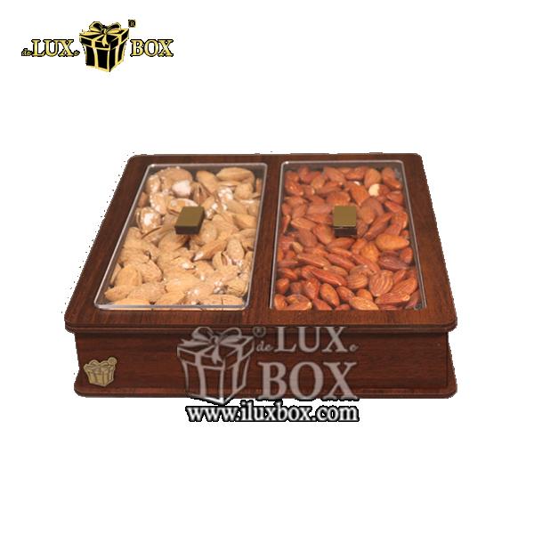جعبه  آجیل و خشکبار پذیرایی چوبی لوکس باکس کد LB 24 _ 1 , لوکس باکس،جعبه ، جعبه آجیل، جعبه آجیل و خشکبار،آجیل، خشکبار،بسته بندی آجیل،جعبه ارزان،جعبه ارزان آجیل، جعبه چوبی ارزان،آجیل کادویی