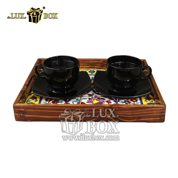 سینی ، سینی چوبی ، سینی پذیرایی ، سینی پذیرایی چوبی ، سینی لوکس ، سینی چوبی با کیفیت ، خرید سینی چوبی ،ظروف سرو و پذیرایی چوبی ، فروش سینی چوبی ،سینی چوبی سنتی ،سینی چوبی سنتی پذیرایی طرح کاشی لوکس با