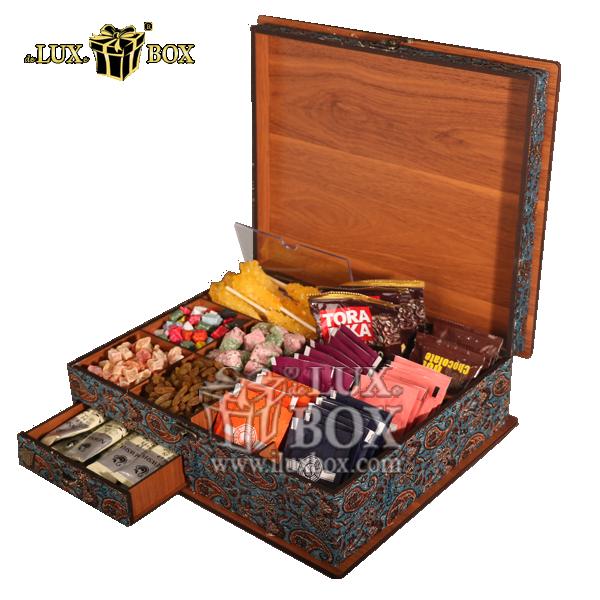 باکس چوبی ، جعبه چوبی دمنوش ، جعبه پذیرایی و دمنوش ،جعبه پذیرایی دمنوش ، باکس لوکس دمنوش ، بسته بندی چوبی دمنوش ،جعبه پذیرایی و دمنوش چوبی ،باکس دمنوش ، جعبه پذیرایی و دمنوش لوکس باکس کد LB 14، جعبه د