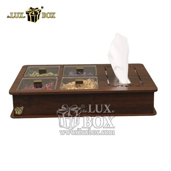 جعبه دمنوش پذیرایی  تی بگ دستمال کاغذی چوبی لوکس باکس  LB12-1 , جعبه ، جعبه چوبی ، جعبه دمنوش ،جعبه پذیرایی دمنوش، جعبه چوبی پذیرایی ،جعبه پذیرایی ، جعبه ارزان دمنوش،جعبه پذیرایی و دمنوش ، جعبه کادویی دمنوش