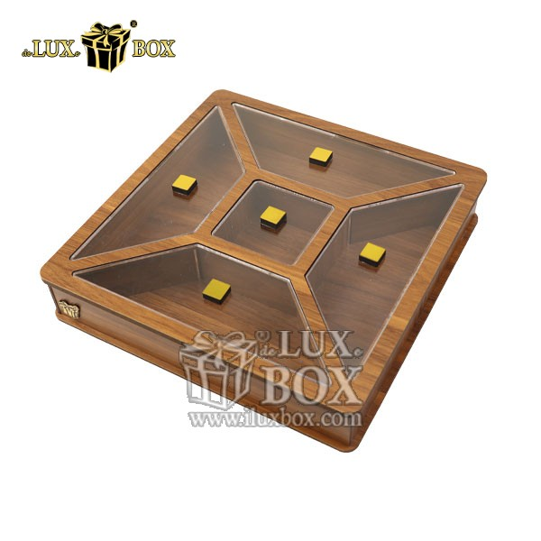 جعبه پذیرایی آجیل و خشکبار , جعبه چوبی , بسته بندی لوکس , جعبه آجیل و خشکبار , باکس چوبی , جعبه پذیرایی آجیل و خشکبار لوکس باکس