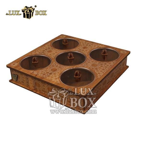 جعبه پذیرایی آجیل و خشکبار , جعبه چوبی , بسته بندی لوکس , جعبه آجیل و خشکبار , باکس چوبی , جعبه پذیرایی آجیل و خشکبار لوکس باکس،جعبه آجیل و خشکبار لوکس باکس کد LB29_01