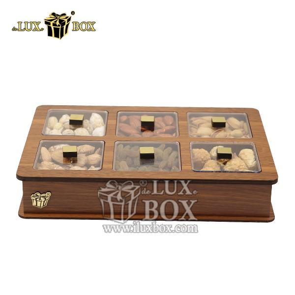جعبه پذیرایی آجیل و خشکبار چوبی لوکس باکس کد LB11-0 , لوکس باکس، جعبه ، جعبه آجیل، جعبه آجیل و خشکبار،آجیل، خشکبار،بسته بندی آجیل،جعبه ارزان،جعبه ارزان آجیل، جعبه چوبی ارزان،آجیل کادویی، جعبه آجیل کادویی،