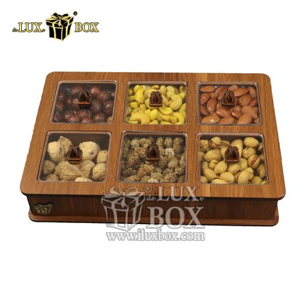 جعبه پذیرایی آجیل و خشکبار چوبی لوکس باکس کد LB11-01 , لوکس باکس، جعبه ، جعبه آجیل، جعبه آجیل و خشکبار،آجیل، خشکبار،بسته بندی آجیل،جعبه ارزان،جعبه ارزان آجیل، جعبه چوبی ارزان،آجیل کادویی، جعبه آجیل کادویی،