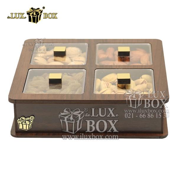 جعبه پذیرایی آجیل و خشکبار چوبی لوکس باکس کد LB18-1 , لوکس باکس، جعبه ، جعبه آجیل، جعبه آجیل و خشکبار،آجیل، خشکبار،بسته بندی آجیل،جعبه ارزان،جعبه ارزان آجیل، جعبه چوبی ارزان،آجیل کادویی، جعبه آجیل کادویی،