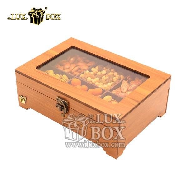جعبه پذیرایی آجیل و خشکبار چوبی لوکس باکس کد LB320-0 , لوکس باکس،جعبه ، جعبه آجیل، جعبه آجیل و خشکبار،آجیل، خشکبار،بسته بندی آجیل،جعبه ارزان،جعبه ارزان آجیل، جعبه چوبی ارزان،آجیل کادویی، جعبه آجیل کادویی،