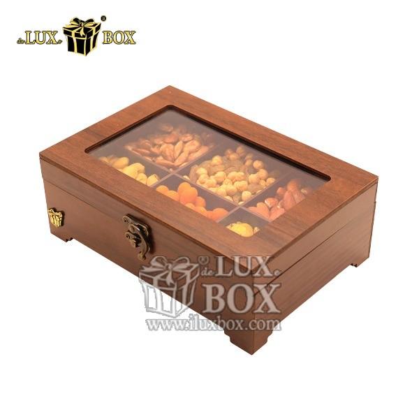 جعبه پذیرایی آجیل و خشکبار چوبی لوکس باکس کد LB320-1 , لوکس باکس،جعبه ، جعبه آجیل، جعبه آجیل و خشکبار،آجیل، خشکبار،بسته بندی آجیل،جعبه ارزان،جعبه ارزان آجیل، جعبه چوبی ارزان،آجیل کادویی، جعبه آجیل کادویی،