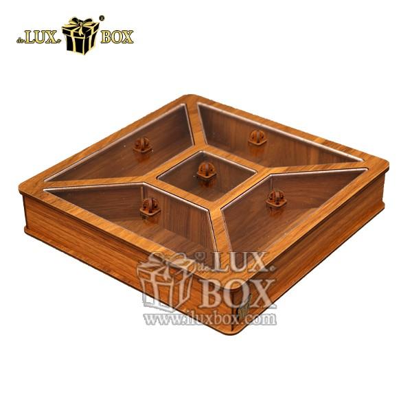 جعبه پذیرایی آجیل و خشکبار ,جعبه چوبی ,بسته بندی لوکس ,جعبه آجیل و خشکبار ,باکس چوبی ,جعبه پذیرایی آجیل و خشکبار لوکس باکس ,جعبه کادو آجیل خشکبار پذیرایی لوکس باکس کد  LB26_01