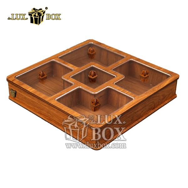 جعبه پذیرایی آجیل و خشکبار ,جعبه چوبی ,بسته بندی لوکس ,جعبه آجیل و خشکبار ,باکس چوبی ,جعبه پذیرایی آجیل و خشکبار لوکس باکس ,جعبه پذیرایی آجیل و خشکبار لوکس باکس کد LB27_01