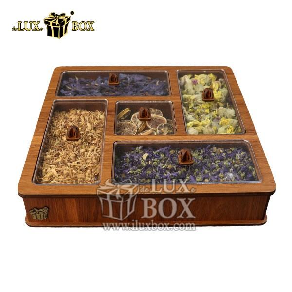 جعبه دمنوش پذیرایی چوبی لوکس باکس کد LB28-01 , جعبه ، جعبه چوبی ، جعبه دمنوش ،جعبه پذیرایی دمنوش، جعبه چوبی پذیرایی ،جعبه پذیرایی ، جعبه ارزان دمنوش،جعبه پذیرایی و دمنوش ، جعبه کادویی دمنوش