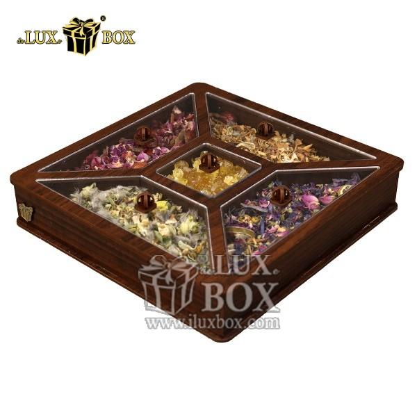 جعبه دمنوش پذیرایی چای کیسه ای لوکس باکس کد LB26-11 , جعبه ، جعبه چوبی ، جعبه دمنوش ،جعبه پذیرایی دمنوش، جعبه چوبی پذیرایی ،جعبه پذیرایی ، جعبه ارزان دمنوش،جعبه پذیرایی و دمنوش ، جعبه کادویی دمنوش
