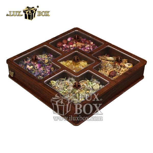 جعبه دمنوش پذیرایی چوبی لوکس باکس کد LB27-11 , جعبه ، جعبه چوبی ، جعبه دمنوش ،جعبه پذیرایی دمنوش، جعبه چوبی پذیرایی ،جعبه پذیرایی ، جعبه ارزان دمنوش،جعبه پذیرایی و دمنوش ، جعبه کادویی دمنوش