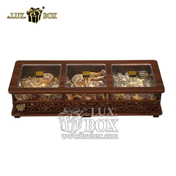 جعبه دمنوش پذیرایی چوبی لوکس باکس کد LB31-1 , جعبه ، جعبه چوبی ، جعبه دمنوش ،جعبه پذیرایی دمنوش، جعبه چوبی پذیرایی ،جعبه پذیرایی ، جعبه ارزان دمنوش،جعبه پذیرایی و دمنوش ، جعبه کادویی دمنوش