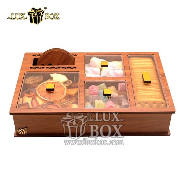 جعبه پذیرایی آجیل و خشکبار چوبی لوکس باکس کد LB25-0 , لوکس باکس، جعبه ، جعبه آجیل، جعبه آجیل و خشکبار،آجیل، خشکبار،بسته بندی آجیل،جعبه ارزان،جعبه ارزان آجیل، جعبه چوبی ارزان،آجیل کادویی، جعبه آجیل کادویی،