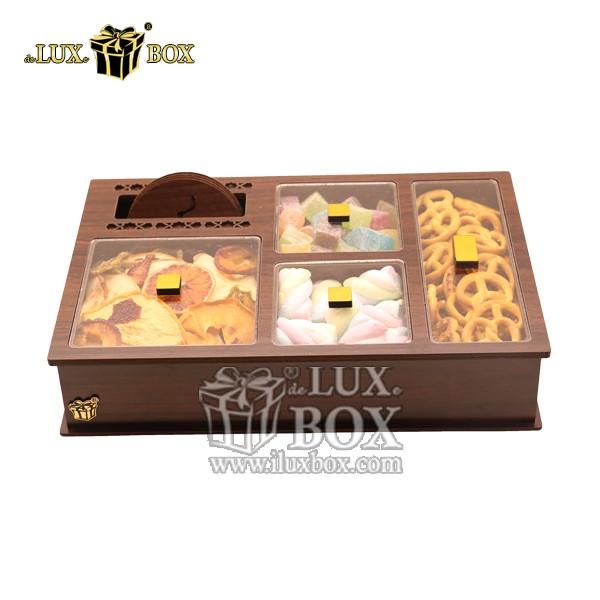 جعبه پذیرایی آجیل و خشکبار چوبی لوکس باکس کد LB25-1 , لوکس باکس، جعبه ، جعبه آجیل، جعبه آجیل و خشکبار،آجیل، خشکبار،بسته بندی آجیل،جعبه ارزان،جعبه ارزان آجیل، جعبه چوبی ارزان،آجیل کادویی، جعبه آجیل کادویی،
