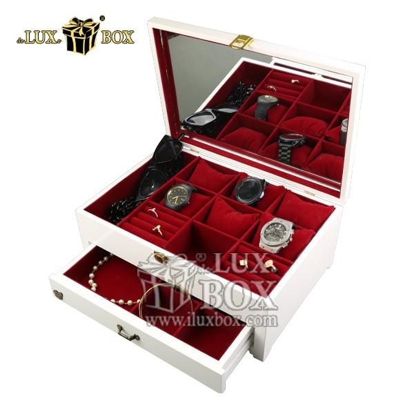جعبه جواهرات طلا ساعت هدیه چوبی لوکس باکس کد LB301-W , لوکس باکس ,جعبه ,جعبه چوبی ,جعبه کادویی ,باکس چوبی ,جعبه کادویی چوبی ,جعبه ولنتاین ,جعبه کادویی ولنتاین ,کادو ,کادوی لوکس ,باکس کادویی ,جعبه هدیه چوبی ,جعبه هدیه لوکس ,جعبه هدیه لوکس باکس ,جعبه شیک کادویی ,جعبه جواهرات ,جعبه طلا و ساعت ,باکس جواهرات ,فروش جعبه جواهرات لوکس ,جعبه جواهرات چوبی ,جعبه جواهرات طلا ساعت هدیه چوبی لوکس باکس