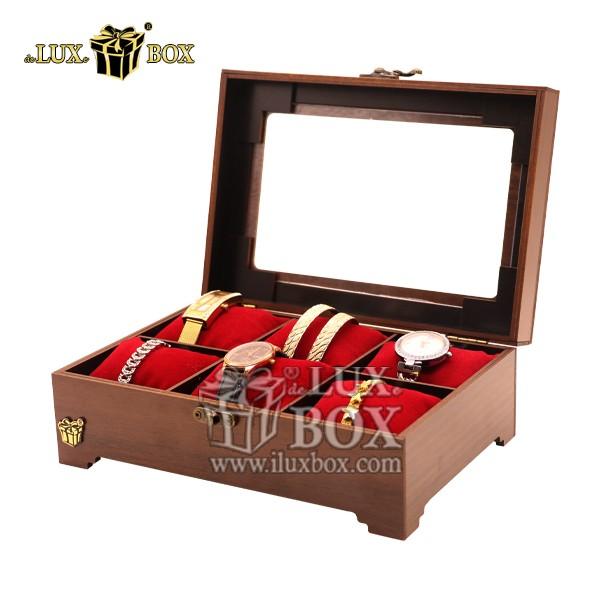 جعبه جواهرات طلا هدیه ساعت چوبی لوکس باکس کد LB320-1 , باکس ساعت مچی, باکس نگهداری ساعت, جای ساعت مچی, جای نگهداری ساعت مچی, جعبه چوبی ساعت مچی, جعبه دستبند, جعبه ساعت, جعبه ساعت چندتایی, جعبه ساعت چوبی, جعبه ساعت عمده