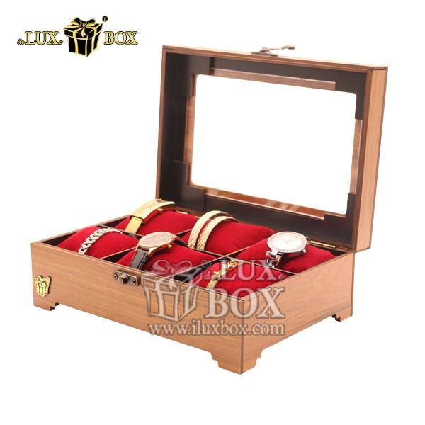 جعبه جواهرات طلا هدیه ساعت چوبی لوکس باکس کد LB320-0 , لوکس باکس ،باکس ساعت مچی, باکس نگهداری ساعت, جای ساعت مچی, جای نگهداری ساعت مچی, جعبه چوبی ساعت مچی, جعبه دستبند, جعبه ساعت, جعبه ساعت چندتایی, جعبه ساعت چوبی,  جعبه ساعت عمده, جعبه ساعت لوکس